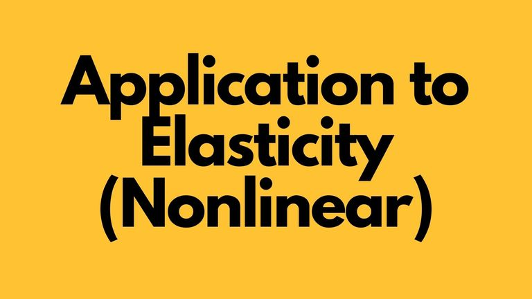 Application to Elasticity (Nonlinear)